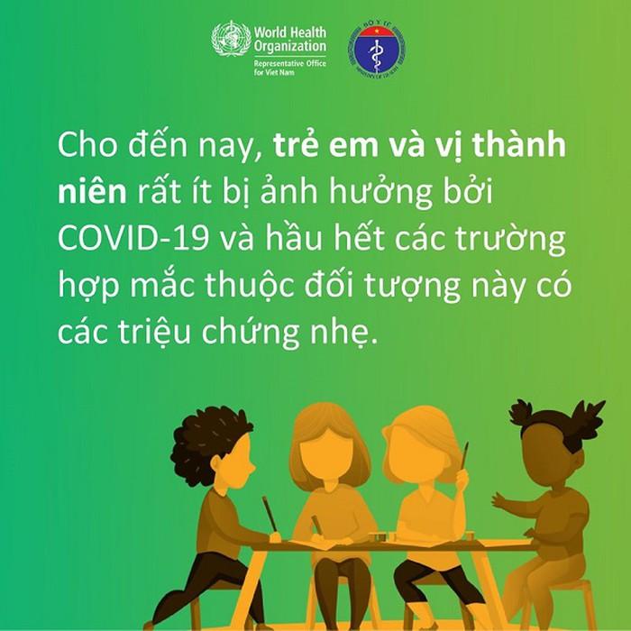 WHO: Cứ 5 người nhiễm Covid-19, 4 người triệu chứng nhẹ, trẻ em ít bị ảnh hưởng - Ảnh 3.