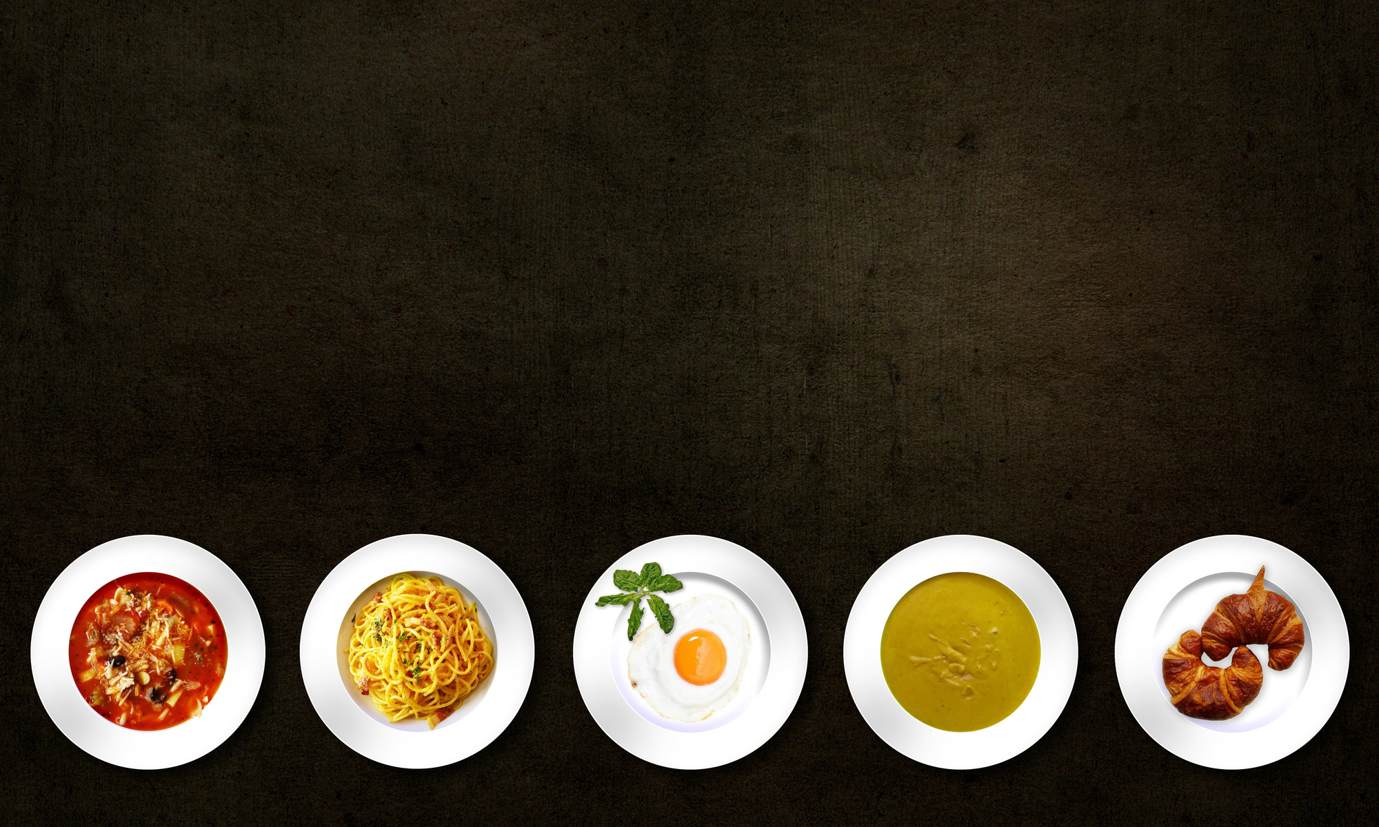 five-white-plates-with-different-kinds-of-dishes-54455