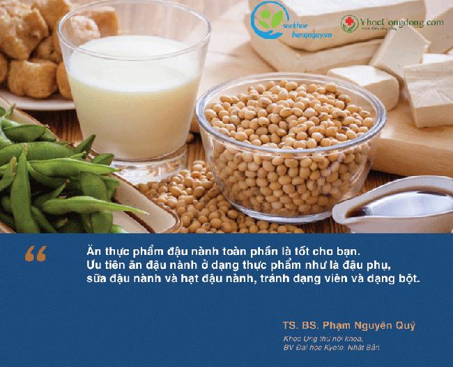 """BS Phạm Nguyên Quý: """"Tiêu thụ lượng vừa phải thực phẩm đậu nành không làm tăng rủi ro tái phát ung thư vú"""" - Ảnh 1."""