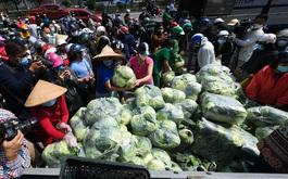 """""""Giải cứu"""" nông sản Hải Dương: Liệu virus COVID-19 có lây qua đường thực phẩm, hàng hoá không?"""