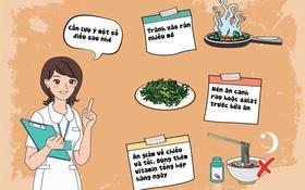 Món ăn có ích dành cho người bị viêm phế quản mãn tính