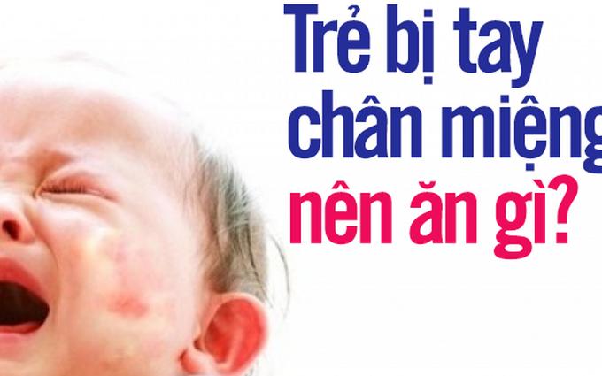 Chế độ dinh dưỡng cho trẻ bị tay chân miệng